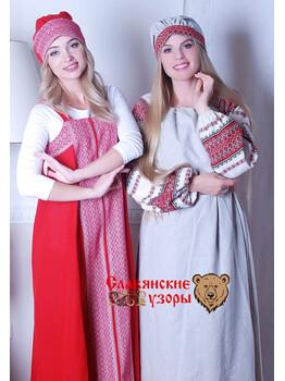 Славянский Повойник красный
