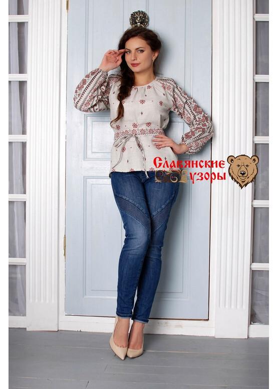 Блуза хлопковая Добромира (орнамент)