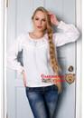 Блуза Белая льняная с кружевом
