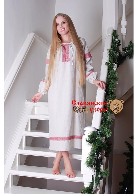 Рубаха Славянская небеленая