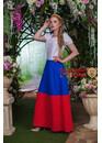 Платье льняное Матушка Русь (триколор)
