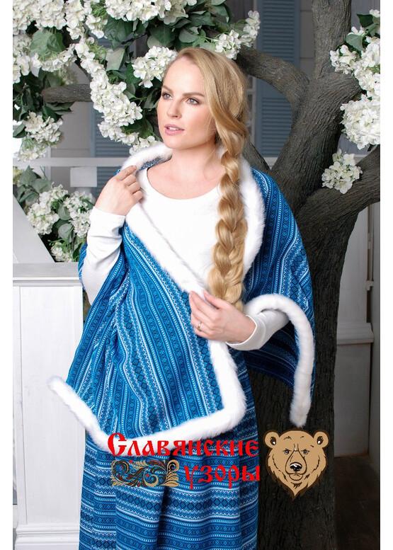 Юбка в русском стиле Орепей синяя