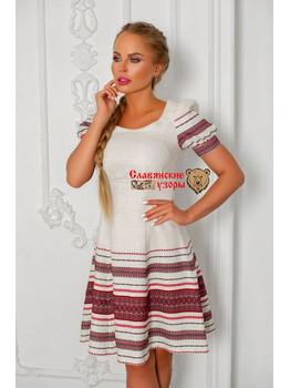 Платье современное с обережными орнаментами Русский узор