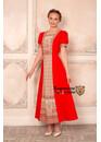 Платье в русском стиле Огневица красное