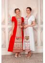 Платье в русском стиле Огневица белое