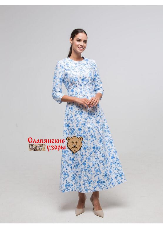 Платье хлопковое Метелица