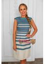 Платье обережное Ведунья голубое