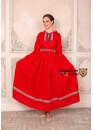 Платье с капюшоном Горожанка красное