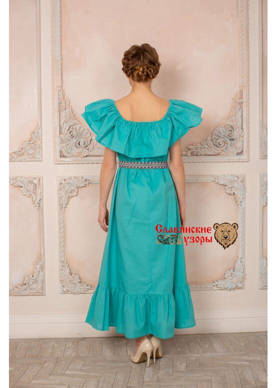 Платье с воланом Летящее морское