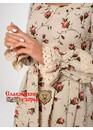 Платье льняное Катерина розы-бутоны