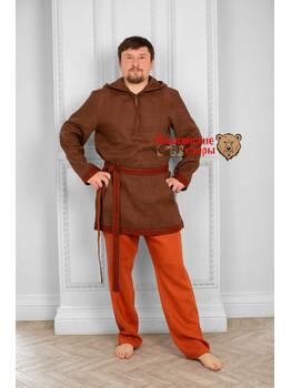 Рубаха мужская традиционная с капюшоном Радомир