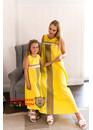 Сарафан с орнаментами Пелагея желтое