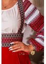 Сарафан шерстяной Подгрудный красный