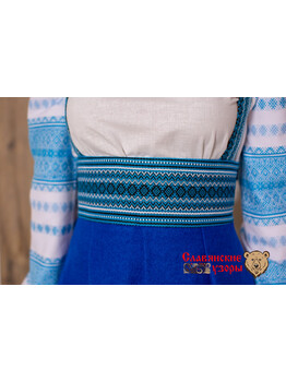 Сарафан шерстяной Подгрудный синий