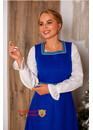 Сарафан шерстяной славянский синий
