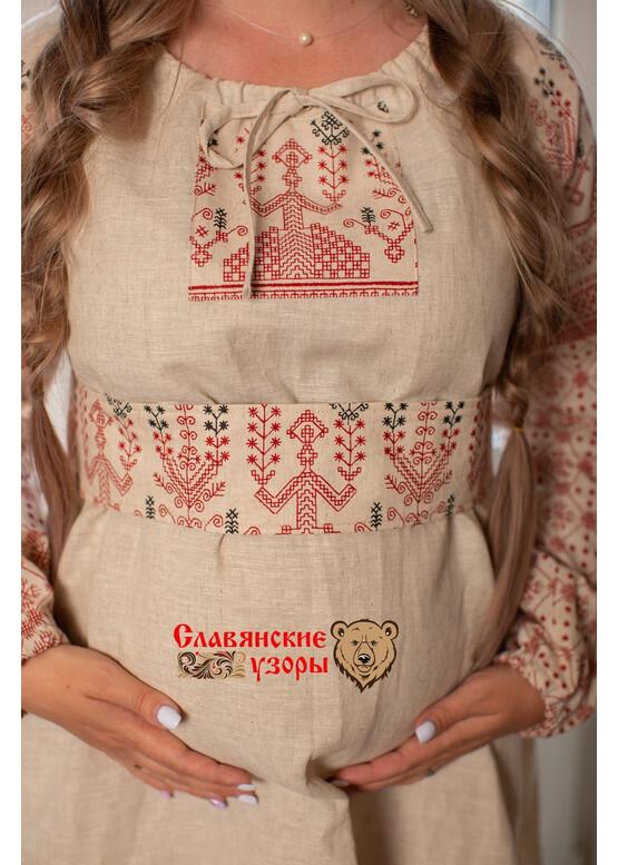 Платье льняное  Матушка Макошь