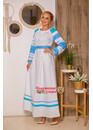 Платье праздничное русское Вешние воды голубое