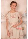 Платье в русском стиле Матушка Макошь миди белая